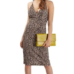 TOPSHOP ANIMAL PRINT BODYCON DRESS